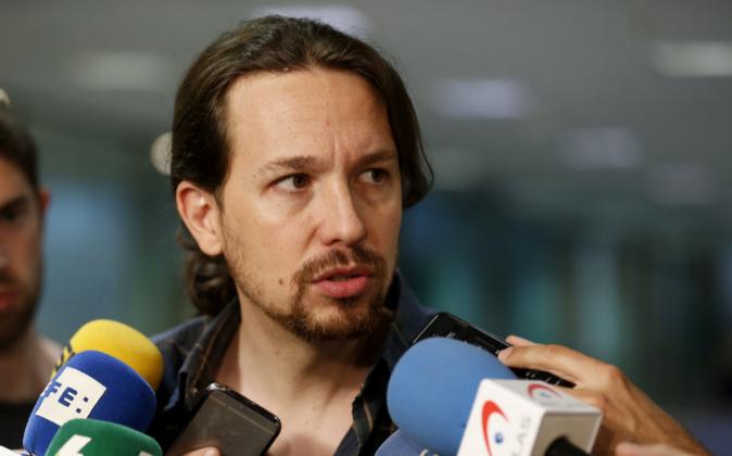El secretario general de Podemos y candidato a las elecciones del 26,...