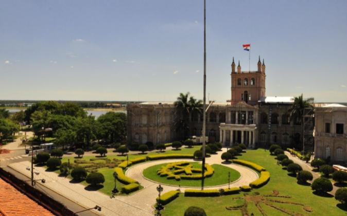 El Palacio de López en Asunción, la capital de Paraguay