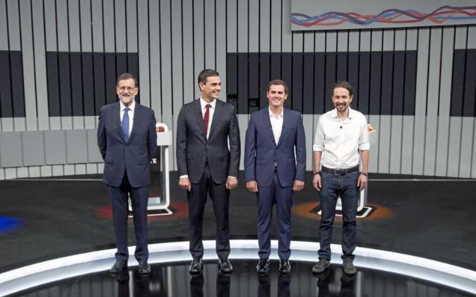 Mariano Rajoy, Pedro Sánchez, Albert Rivera y Pablo Iglesias.