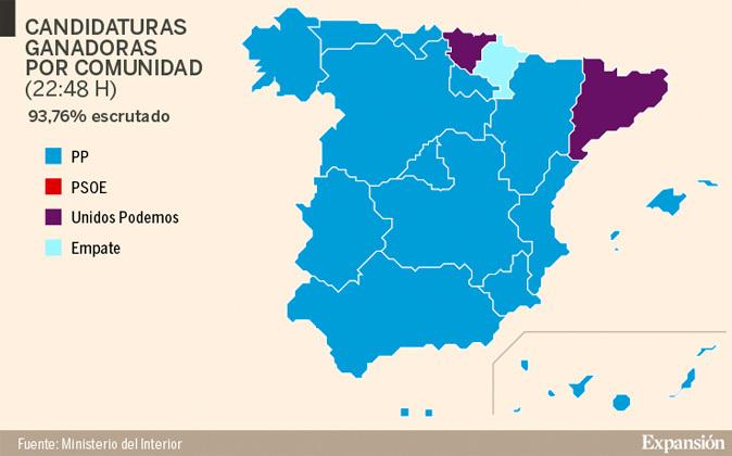 Elecciones Generales de España 2016  El PP gana en 14 CCAA e16d3f71c6f92