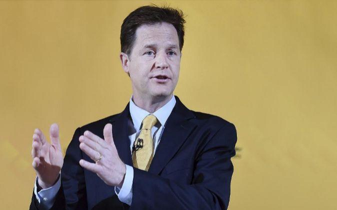 El exviceprimer ministro británico y exlíder del Partido Liberal...