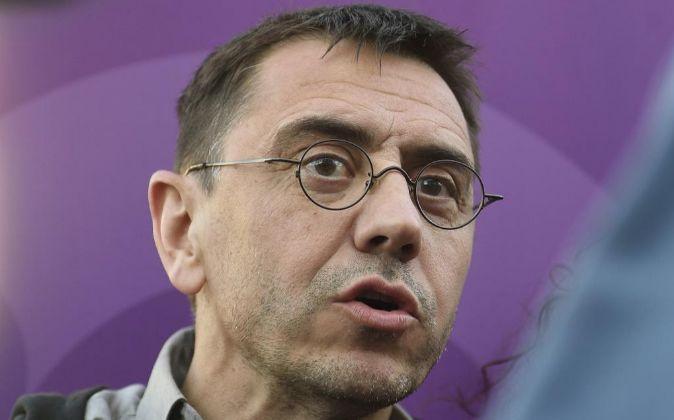 El politólogo, profesor y cofundador de Podemos, Juan Carlos...