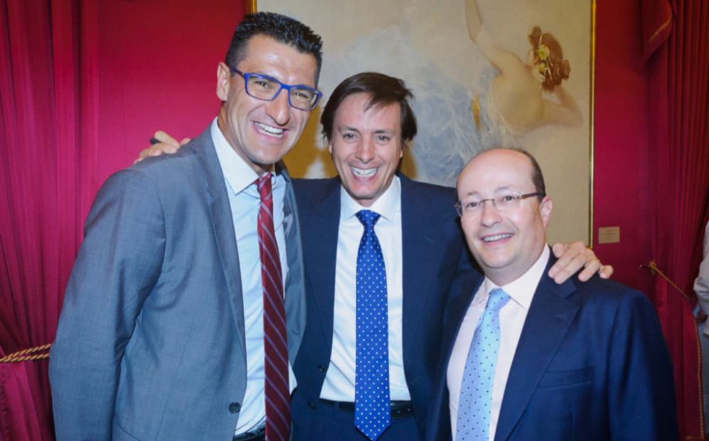 De izqda. a dcha., Hugo Écija, fundador y presidente ejecutivo de...