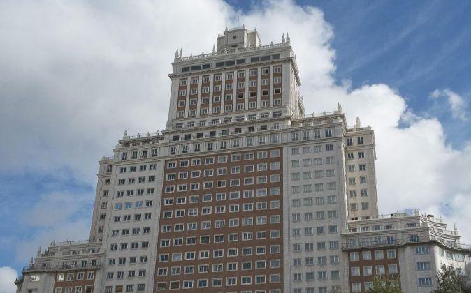 Imagen del Edificio España, en Madrid.