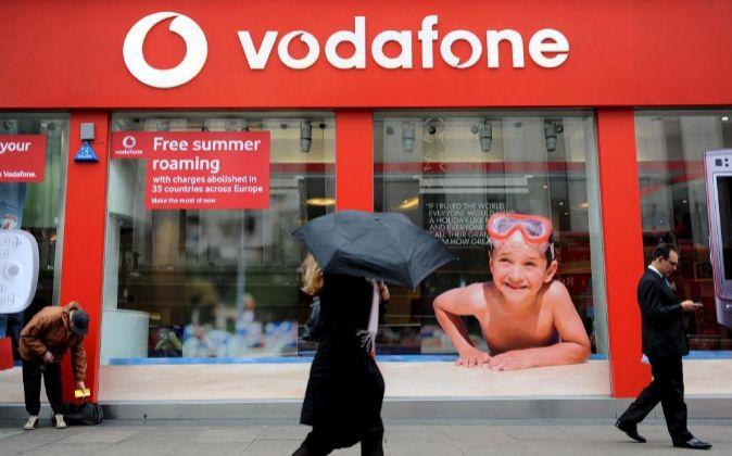 Tienda de Vodafone en Londres.