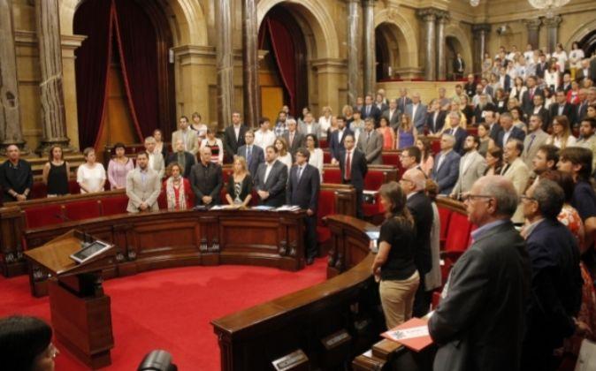 Pleno del Parlament de Catalunya, hoy.