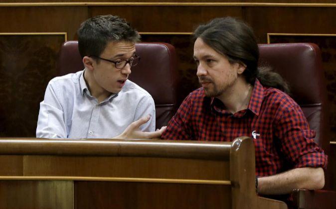 Íñigo Errejón junto a Pablo Iglesias.