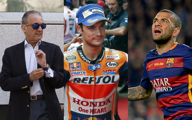 De izquierda a derecha, el expresidente de Banesto, Mario Conde, el...