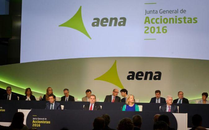 Junta de accionistas de Aena.