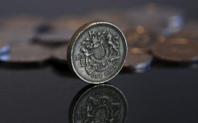 Moneda de una libra británica.