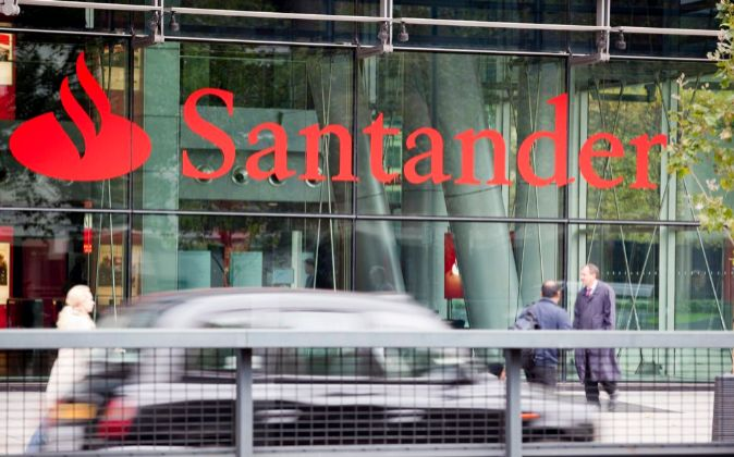 Una oficina de Santander en Londres.