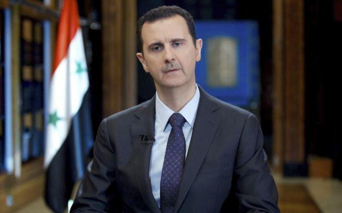 Bachar al Asad durante una entrevista.