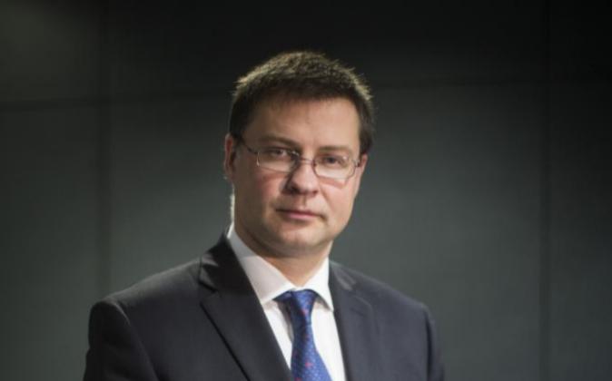 Valdis Dombrovskis, vicepresidente de la CE