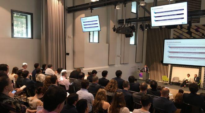 Auditorio del Campus Madrid donde ha tenido lugar la presentación