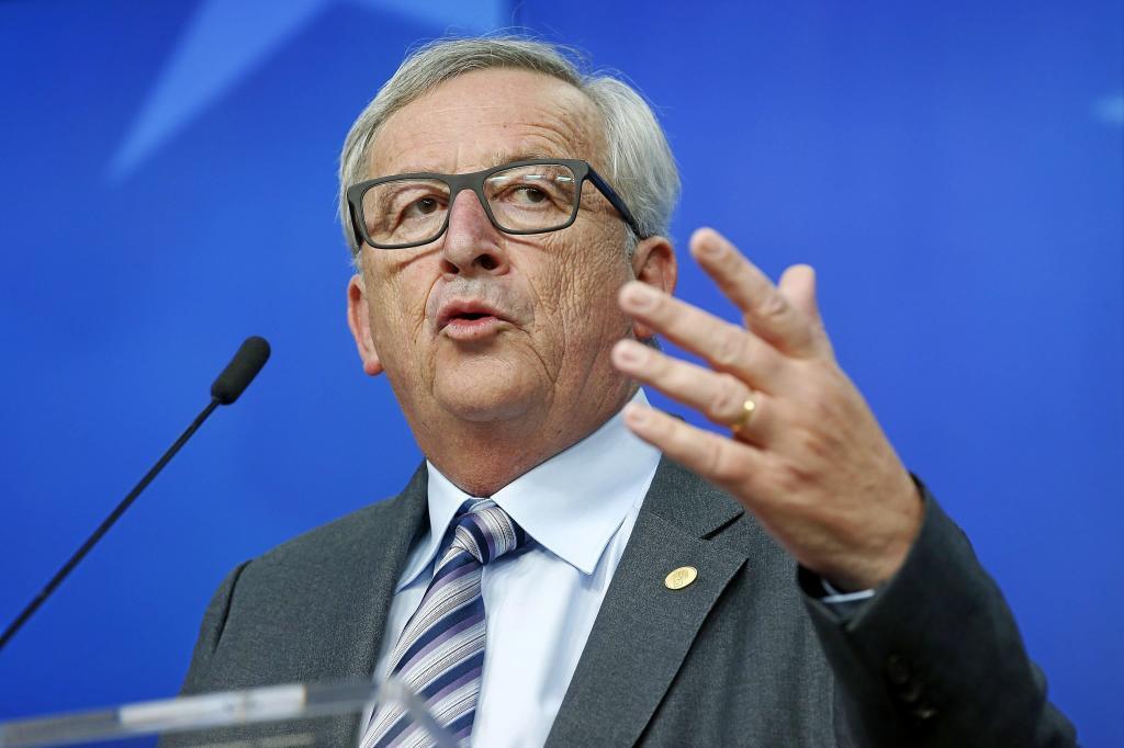 El presidente de la Comisión Europea (CE), Jean-Claude Juncker, en...