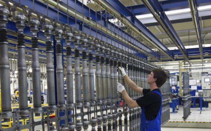 Imagen de una fábrica de componentes de automoción en Haldensleben...