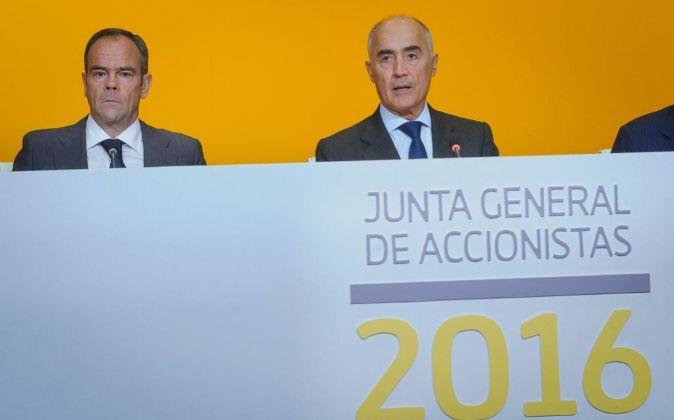 Junta de accionistas de Ferrovial 2016. En la imagen, Iñigo Meiras...