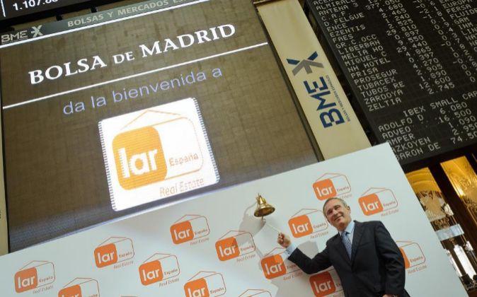 Imagen de la salida a Bolsa de Lar España