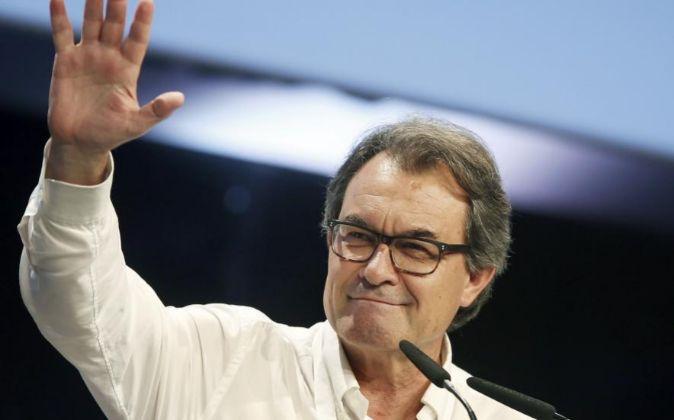 El expresidente catalán Artur Mas, durante su intervención hoy en el...