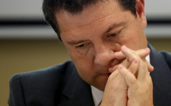 El presidente de la Junta de Comunidades de Castilla-La Mancha,...