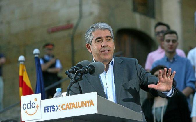 El cabeza de lista de CDC, Francesc Homs.