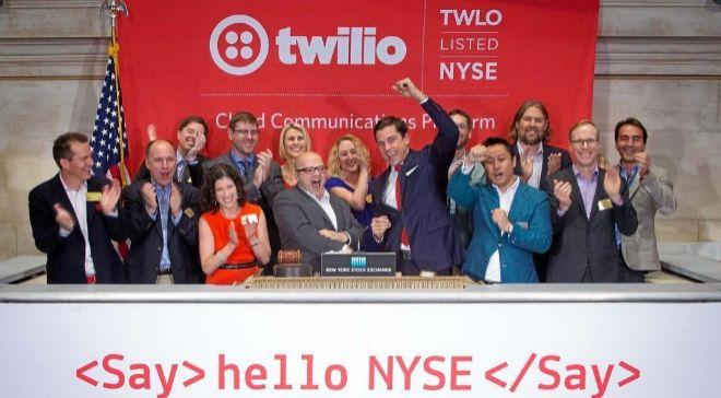 Salida a Bolsa de Twilio, en Nueva York, el pasado 23 de junio.