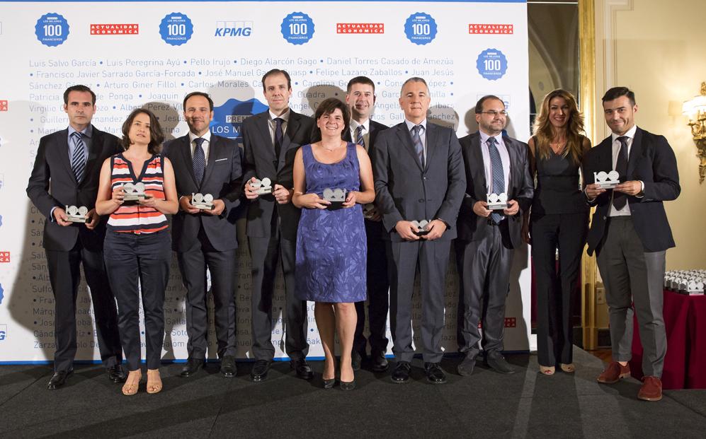 Tercer grupo de premiados: Diego Alarcón, de Adavir; Consuelo López,...