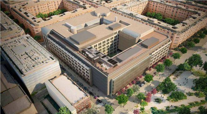 Recreación de la nueva sede corporativa de Amazon en la calle de...