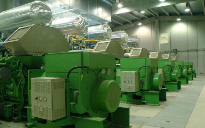 Motores de cogeneración de la planta de purines de Juneda.