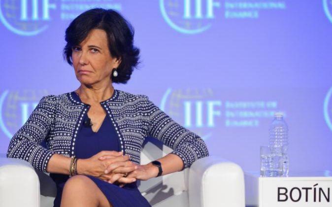 La presidenta de Santander, Ana Botín.
