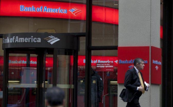 Imagen de una sucursal de Bank of America en Nueva York
