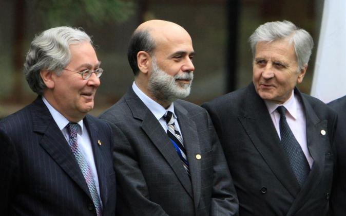 Febrero de 2008: Reunión del G7 en Tokio. En la foto, Mervyn King,...