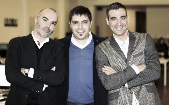 Wallapop. De izquierda a derecha, Gerard Olivé, Agustín Gómez y...