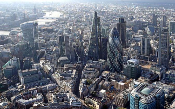 Vista general del distrito financiero de Londres.