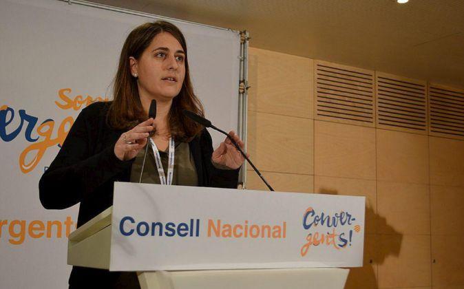 Marta Pascal, portavoz de CDC y diputada en el Parlament.