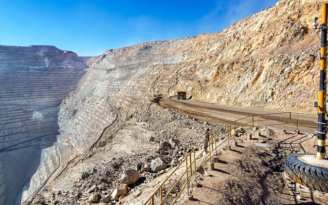 Imagen de la mina de cobre de Chuquicamata, en Chile.