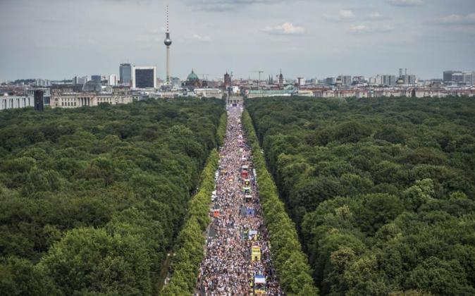 El 'skyline' de Berlín el pasado 23 de julio durante una...