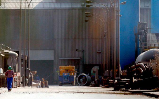 Vista de la factoría de Acerinox en Cádiz.