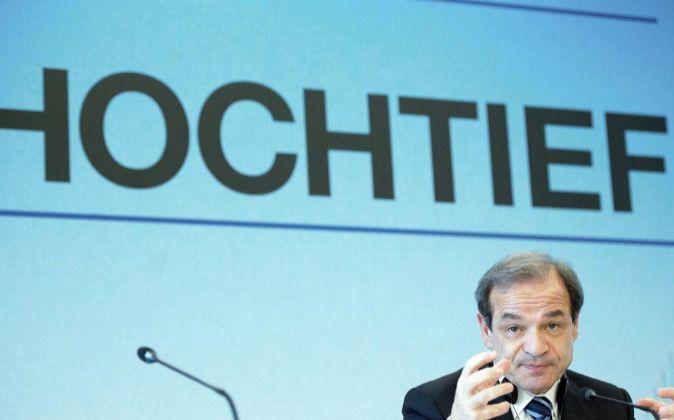 El presidente del consejo de Hochtief, Marcelino Fernández Verdes.