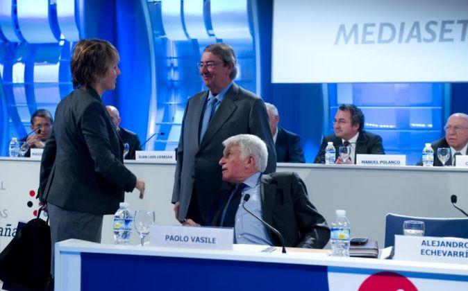 Junta de accionistas de Mediaset.
