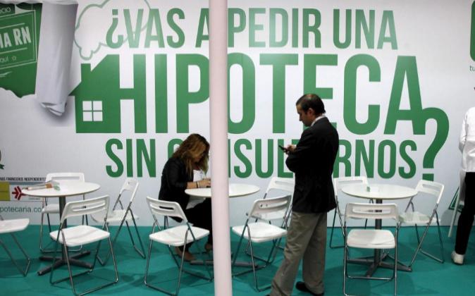 Un 'stand' de la Feria inmobiliaria BPM Barcelona Meeting...