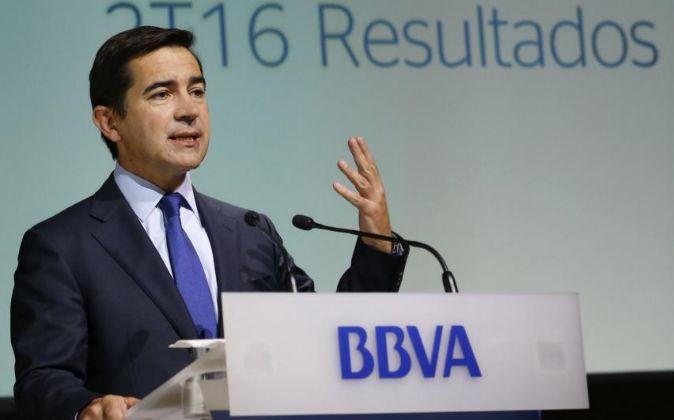 Carlos Torres, consejero delegado del BBVA, en la presentación de...