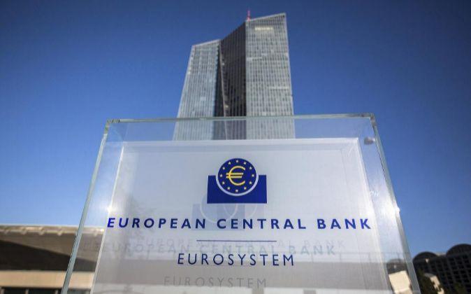 Vista de la sede del Banco Central Europeo (BCE) en Fráncfort...