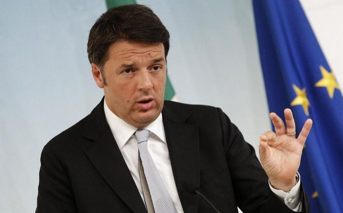 El primer ministro de Italia Matteo Renzi.