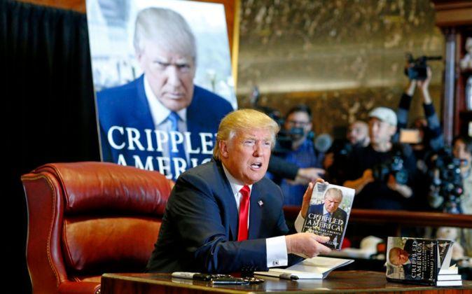 Donald Trump, en la presentación de su libro, en noviembre del año...