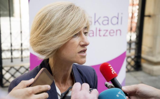 La candidata a lehendakari en las primarias de Podemos, Pili Zabala.
