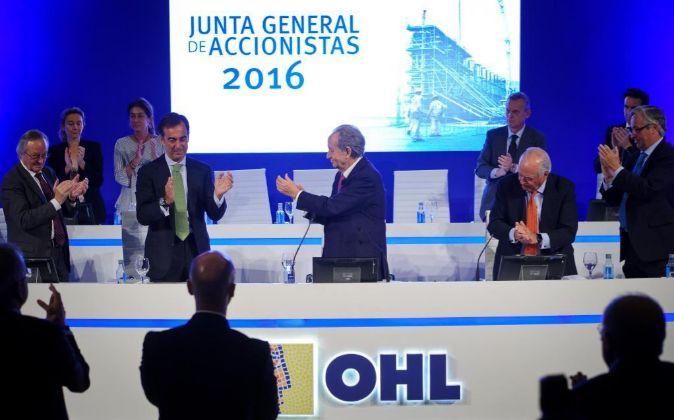 Imagen de la última junta de accionistas de OHL