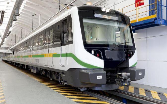Imagen de un modelo de tren de metro