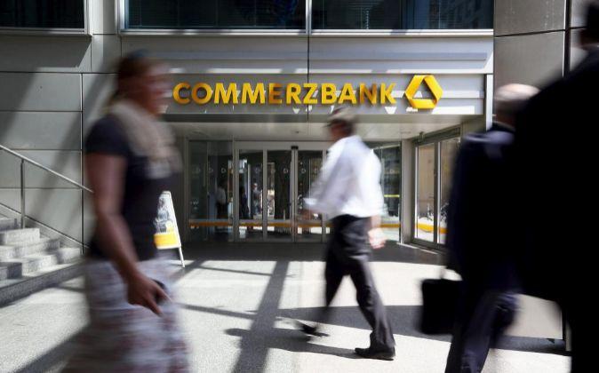 Una sucursal del banco Commerzbank en Frankfurt (Alemania).