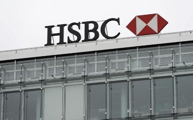 Vista del logotipo de la entidad HSBC Private Bank fotografiado en...